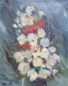 Manner of Maurice Vlaminck, oil on canvas, Study of flowers, 41 x 33cm, unframed