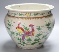 A Chinese jardiniere, height 25cm (faults)