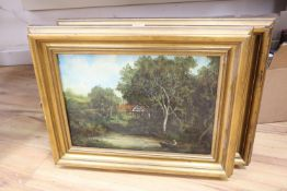 Graham Hedges, pair of oils on canvas, Rustic landscapes, signed, 31 x 44cm