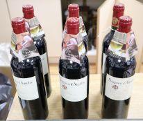 Six bottles of Seigneurs D'Aiguilhe Cotes de Castillon Bordeaux 2003