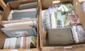 A retailer's stock of Brighton postcards