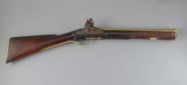 An English blunderbuss by John Hosey, London, c.1700, with 16.25 inch two stage brass