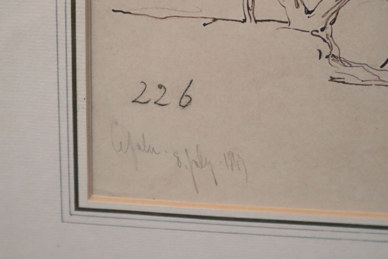 Edward Lear (1812-1888)ink and pencil on buff paper'Cefalu' inscribed and dated 8th July 1847 and - Image 3 of 4