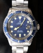 A gentleman's early 1980's stainless steel Rolex Tudor Prince Oysterdate 'Snowflake' Submariner