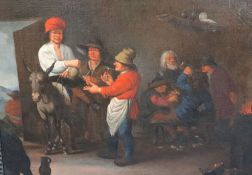 Follower of Peter Quast (Dutch 1606-1647)oil on canvasPeasants drinking and smoking in an