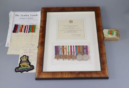 A WWII group of medals to Captain A. Homer, Royal Artillery, mentioned in Dispatches and published
