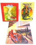[BOOKS]. FUTURIST & FANTASY Mead, Syd, illustrator, & MacMinn, Strother. Sentinel, first edition,