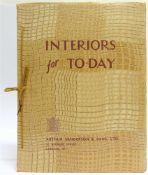 [BOOKS]. TRADE CATALOGUE Arthur Sanderson, Interiors for To-Day, London, no date [circa 1935],