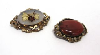 TWO VICTORIAN OVAL BROOCHES