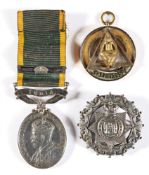 AN EFFICIENCY MEDAL TO PRIVATE L. BROWN, EAST INDIAN RAILWAY REGIMENT, AUXILIARY FORCE INDIA