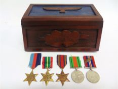 A SECOND WORLD WAR GROUP OF FIVE MEDALS comprising the 1939-45 Star; Pacific Star; Burma Star;