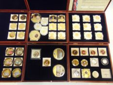 ASSORTED COLLECTOR'S COINS including those of British banknotes, Winston Churchill, Princess