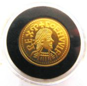 MISCELLANEOUS - A LONDON MINT OFFICE MILLIONAIRES GOLD EDITION COLLECTION REPLICA COENWULF PENNY (
