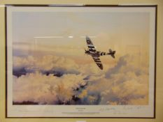 ROBERT TAYLOR (BRITISH, B.1946) 'Wings of Glory', colour print, limited edition 69/500, signed by
