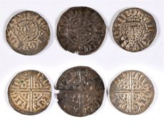 GREAT BRITAIN - THREE HAMMERED SILVER COINS comprising two Henry III (1216-1272), long cross