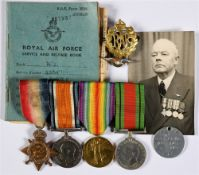 A GREAT WAR & LATER GROUP OF FOUR MEDALS TO CHIEF PETTY OFFICER MECHANIC W. JEFFERIES, ROYAL NAVAL
