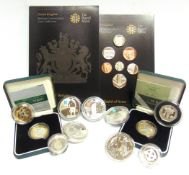 GREAT BRITAIN - ASSORTED SILVER COINAGE comprising Britannia two pounds, 2007 & 2008; two pounds '