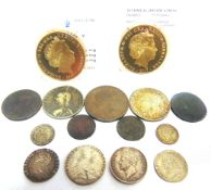 GREAT BRITAIN - ASSORTED comprising a George III (1760-1820), shilling, 1787; George II (1727-1760),