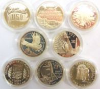 U.S.A. - EIGHT ASSORTED SILVER LIBERTY DOLLARS