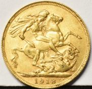 GREAT BRITAIN - GEORGE V (1910-1936), SOVEREIGN, 1918 Perth mint (P).