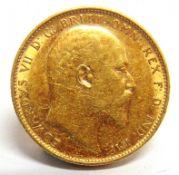 GREAT BRITAIN - EDWARD VII (1901-1910), SOVEREIGN, 1909 Perth mint (P).