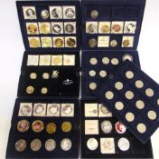 ASSORTED COLLECTOR'S & BRITISH GENERAL CIRCULATION COINS in eleven storage boxes, (total 72 coins).