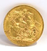 GREAT BRITAIN - GEORGE V (1910-1936), SOVEREIGN, 1913 Perth mint (P).