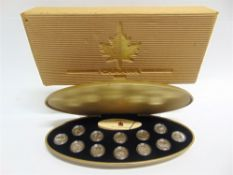 CANADA - MILLENNIUM MILLENAIRE STERLING SILVER PROOF SET, 1999 comprising twelve coins (each 92.5%