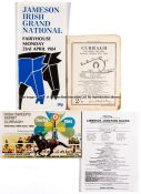 Collection of 17 Irish racecards, circa 1970s & 1980s, including the 1982 (2), 1983 and 1987 Irish