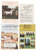 Group of York Ebor meeting racecards, dating between 1948 and 2019, comprising 1940s (one), 1950s (