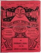 Bound volume of racing tipster The Man in the Moon, 1915, hardcover, weekly periodicalcovering 22nd