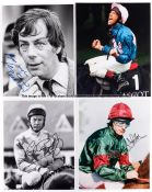 Collection of signed photographs of Flat jockeys and trainers, 10 by 8in., signed in marker pen,