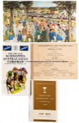 Collection of eight rare French, Australian and Indian racecards, including the centenary