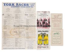 Collection of York racecards, dating between 1929 and 2019, including the May Dante meetings and