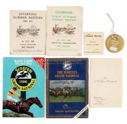 Group of Aintree racecards including Grand National days, comprising 24 for Grand National days (