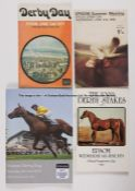 Assortment of Epsom Derby Day racecards dating between 1963 and 2018, comprising 1963 (Relko),