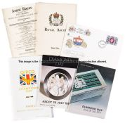 Group of Ascot racecards, including 46 King George VI and Queen Elizabeth Stakes dating between 1959