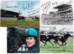 Collection of signed photographs of famous National Hunt moments and personalities, majority 12 by