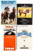 Collection of 25 English racecards, mainly Goodwood, circa 1980s, mostly from Glorious Goodwood