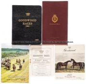 Group of Goodwood racecards, including small group of five early-style cards dating between 1921 and