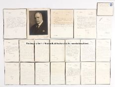 Unique group of personal letters from the 17th Earl of Derby to Mrs Mirabel Topham, circa 1946-1948,