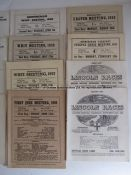 Collection of 21 racecards from now-defunct courses, two for Manchester 1941 and the final day 9th
