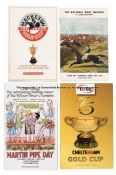 Group of Cheltenham racecards, including 57 Cheltenham Gold Cup days dating between 1967 and the
