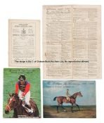 Group of Doncaster racecards including St Leger days, comprising the 1894 St Leger and 17 more St