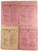 Scarce 1895 Racing Star & Sporting Mail weekly journals, four-page journals featuring horse racing