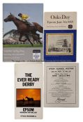Collection of Epsom racecards including Derby and Oaks, dating between 1954 and 2018, comprising six