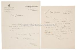 Equestrian-related correspondence from Lord Decies and to Lord Lonsdale, circa 1932, handwritten