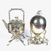 Two electroplated silver items, late 19th/early 20th century.