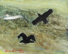 Lowndes, Alan Bailey 1921-1978 British AR Seagull and Crows.