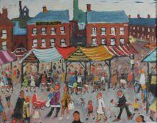 Stafford, Simeon b1956 British AR Market Day.